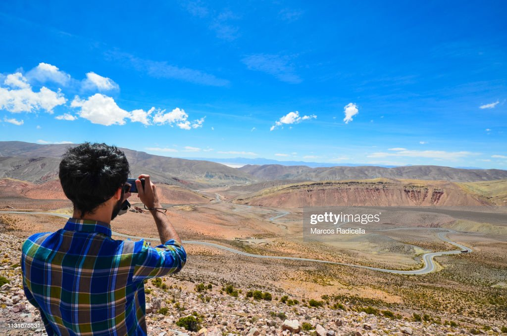 Road to Salinas grandes, Salta Province, Argentina : Stock Photo