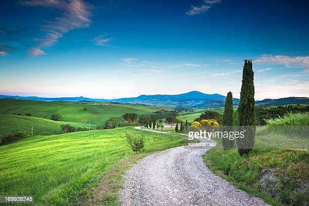 road to the beauty tuscany - siena italy stock photos and pictures