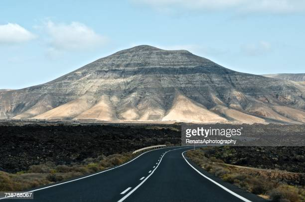 Road to the mountains, Lanzarote, Canary Islands, Spain