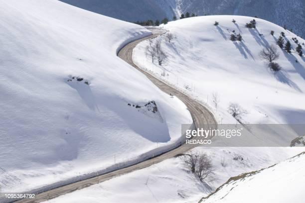 Road to the Pintura di Bolognola Sarnano Marche Italy Europe