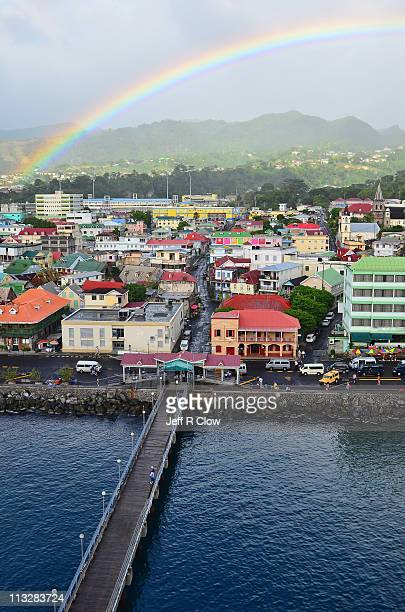 road to the rainbow - dominica stock pictures, royalty-free photos & images