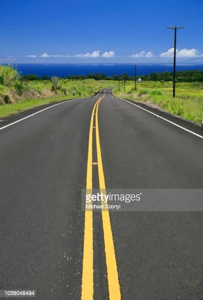 Road to the sea from Akaka Falls State Park near Hilo, Big Island, Hawai'i, Hawaii, USA