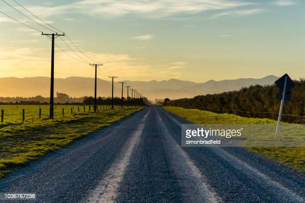 road to the southern alps, new zealand - country road stock pictures, royalty-free photos & images