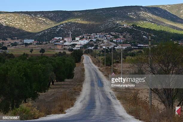 road to village - emreturanphoto bildbanksfoton och bilder