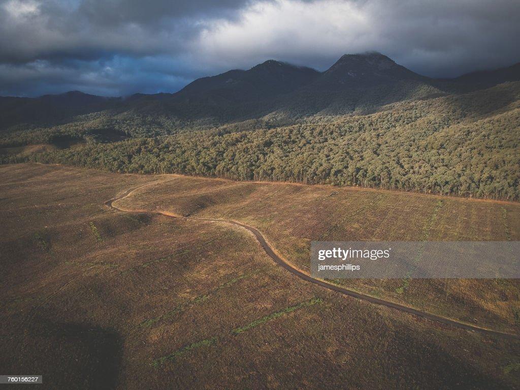 Road towards Mount Buffalo, Victoria, Australia : Stock Photo