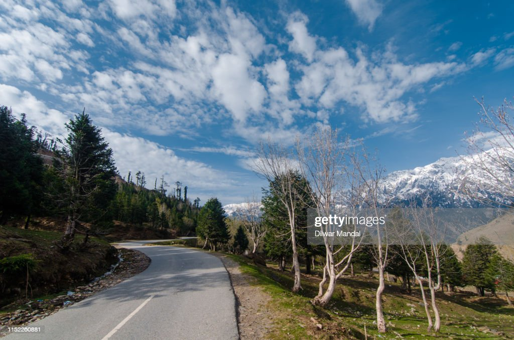 Road Towards Rohtang Pass : Stockfoto