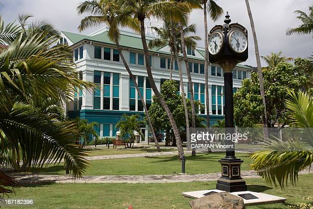 Road Town the capital of Torotola the main Island of the archipelago of the British Virgin Island in the Caribbean Palm Grove House the building of...