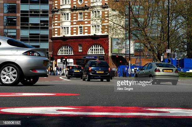 CONTENT] Road traffic entering the London congestion charge zone at the Elephant and Castle roundabout