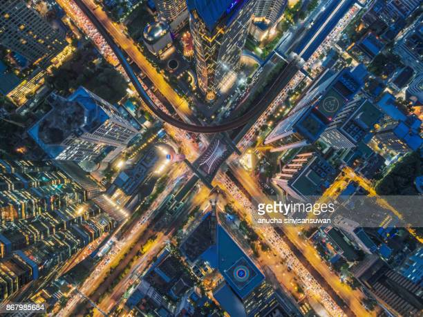 road traffic in city at thailand . - x photos stock photos and pictures
