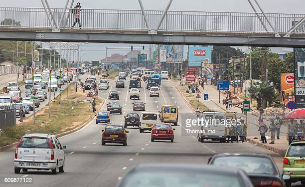 Road traffic in Ghana's capital Accra on September 05 2016 in Accra Ghana