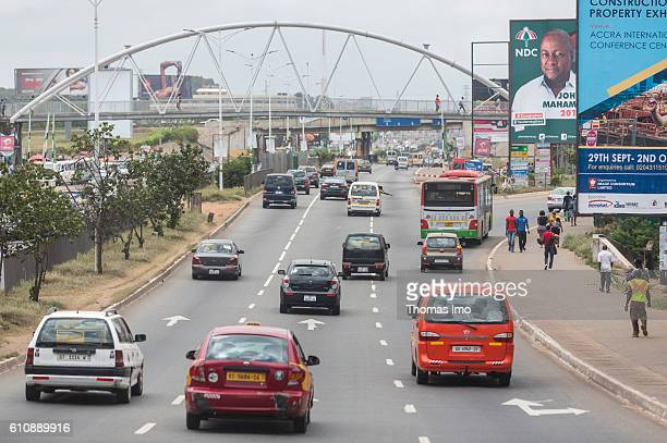 Road traffic in Ghana's capital Accra on September 05 2016 in Accra Ghana