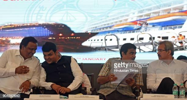 Road Transport Highway and Water Resources Minister Nitin Gadkari Maharashtra Chief Minister Devendra Fadnavis Chairman of Mumbai Port Trust Sanjay...