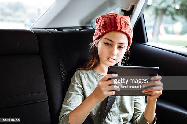 Road trip for pre-teen with tablet