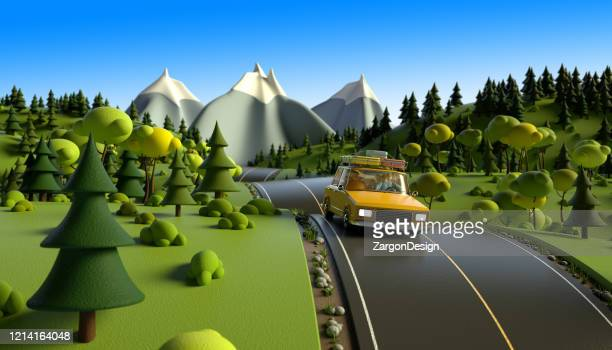 road trip - cartoon stock pictures, royalty-free photos & images