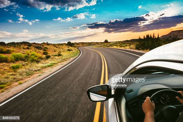 road trip - motivatie stockfoto's en -beelden