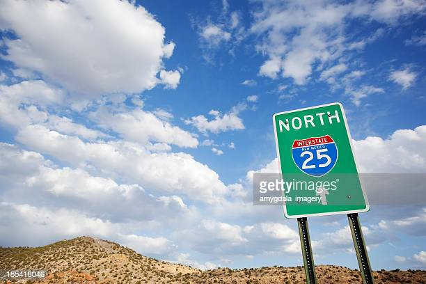 road trip sign desert landscape sky - wide angle stock pictures, royalty-free photos & images