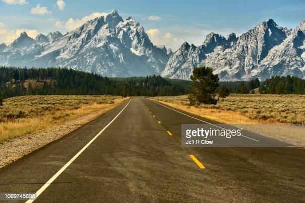road trip to the tetons - グランドティトン国立公園 ストックフォトと画像