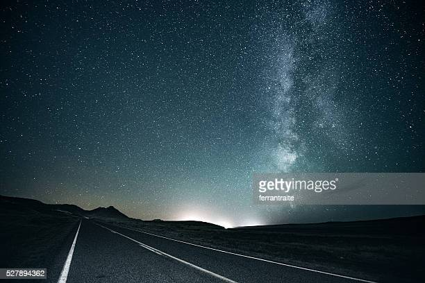 road trip under the milky way - eternity stock pictures, royalty-free photos & images