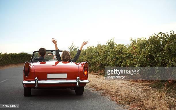 road trips make great stories - convertible stock photos and pictures