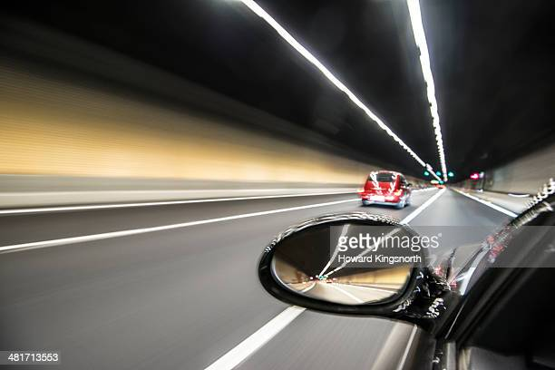 Road tunnel at speed