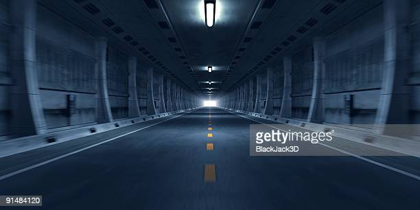 túnel de carretera - 3d background fotografías e imágenes de stock