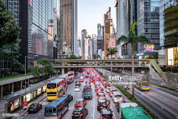 road, wanchai, hong kong - wanchai stock photos and pictures