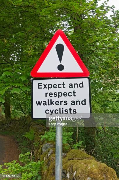 Road warning sign.