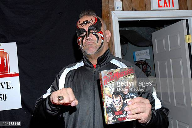 Road Warrior Animal promotes Road Warriors Danger Death And The Rush Of Wrestling at Bookends Bookstore on May 14 2011 in Ridgewood New Jersey