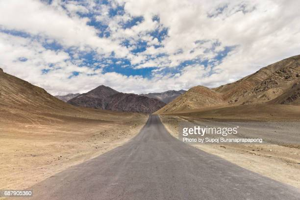 Road way at magnetic hill nearly leh city from srinager to leh ladakh region