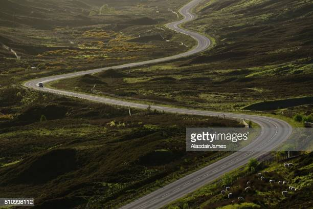 Road winding through Glen Docherty