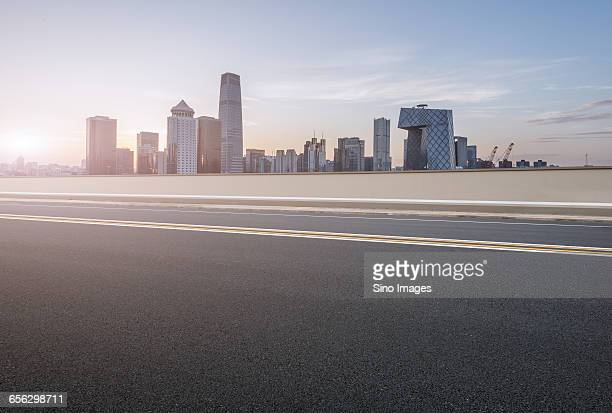 Road With Beijing CBD in Background