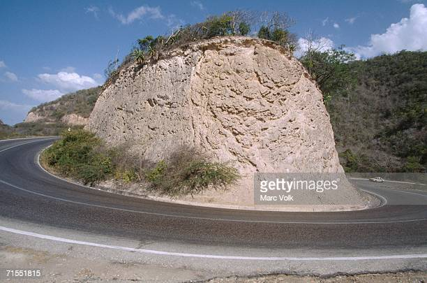 road with hairpin curve - hairpin curve stock photos and pictures