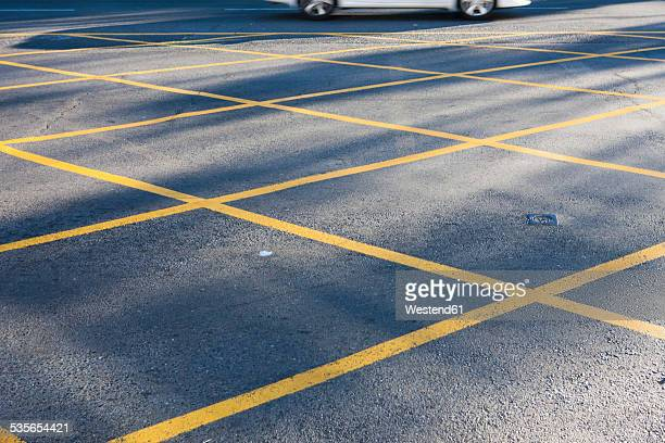 Road with yellow No Parking lines
