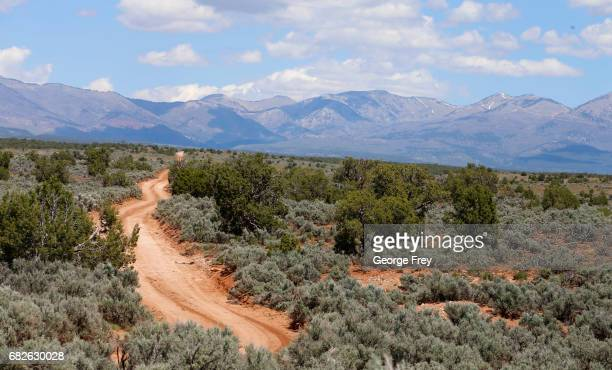 BLANDING UT MAY 12 A road wonders off into the distance in the Bears Ears National Monument on May 12 2017 outside Blanding Utah Many locals fear the...