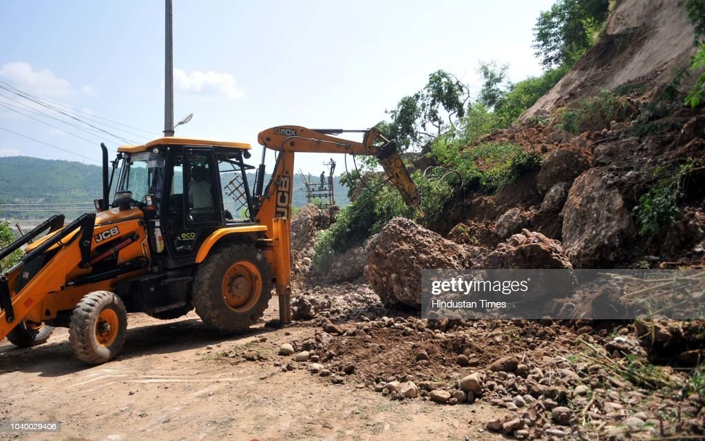 Landslides Hit Circular Road On The Outskirts Of Jammu