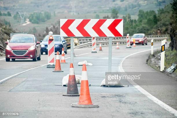 Road works ahead.