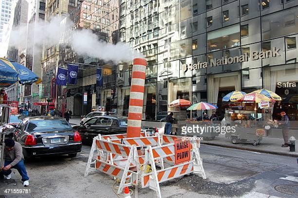 道路は、マンハッタン、ニューヨーク市 - ニューヨーク郡 ストックフォトと画像