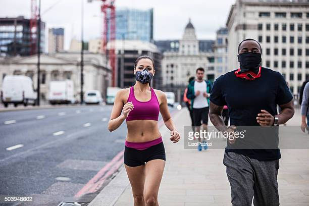 Roadrunners excercising in Central London