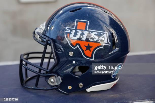 Roadrunners helmet during the college football game between the UTSA Roadrunners and the Arizona State Sun Devils on Sep 1, 2018 at Sun Devil Stadium...