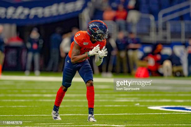 Roadrunners wide receiver Sheldon Jones lines up during the game between the Florida Atlantic Owls and the UTSA Roadrunners on November 23 2019 at...