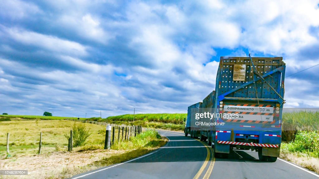 Roads and highways in the rural area of Piracicaba. : Stock Photo