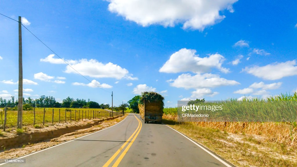 Roads and highways in the rural area of Piracicaba. : Foto de stock