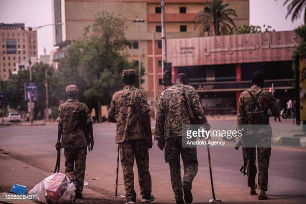 "Roads and streets are being closed by security forces ahead of ""millions march"" in Khartoum, Sudan on June 28, 2020."