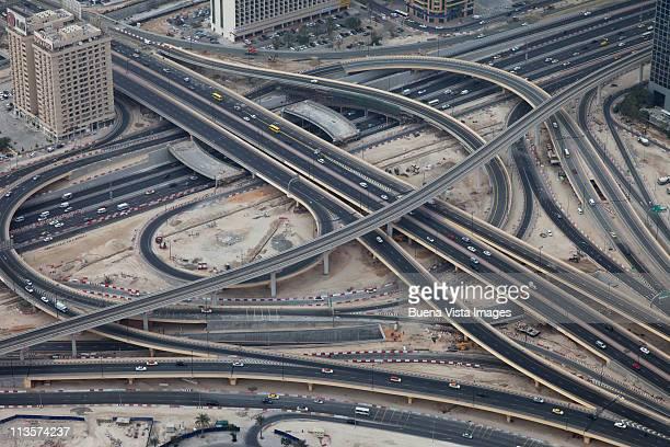 Roads crossing downtown Dubai