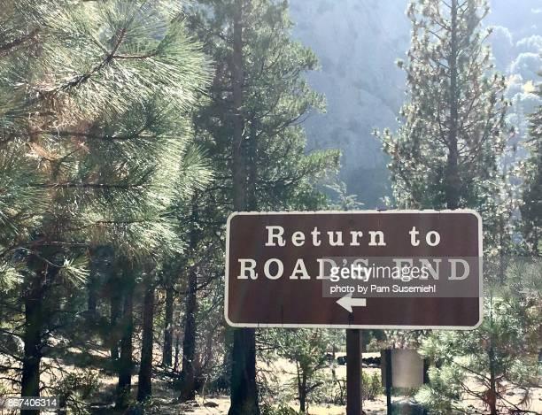 road's end - riserva naturale parco nazionale foto e immagini stock