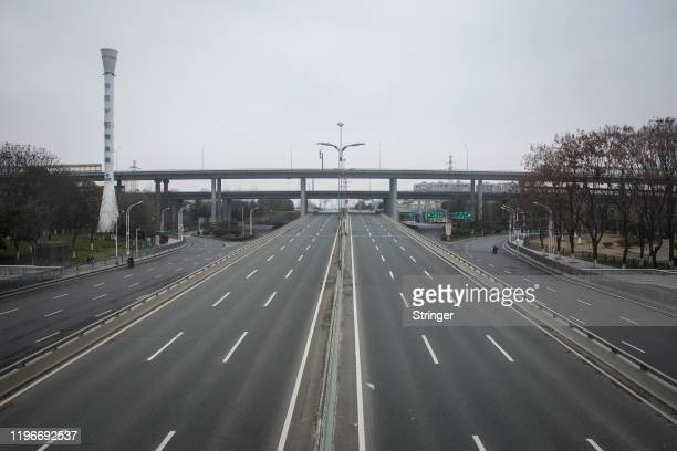 Roads remain empty on January 27 2020 in Wuhan China As the death toll from the coronavirus reaches 80 in China with over 2700 confirmed cases the...