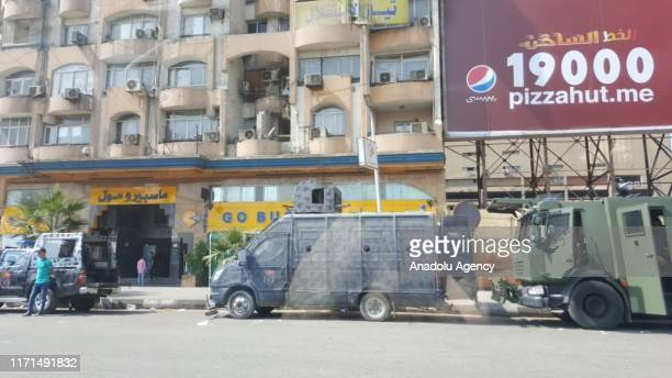 Roads to Tahrir Square are being blocked by Security forces to prevent Anti-government protests in Cairo, Egypt on September 27, 2019.