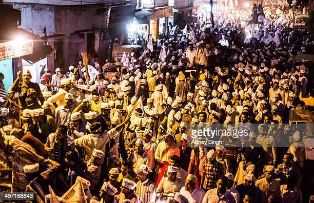 CONTENT] A roadshow by Aam Aadmi Party in Varanasi during election campaigning for Lok Sabha elections of 2014 Varanasi is the most fiercely battled...