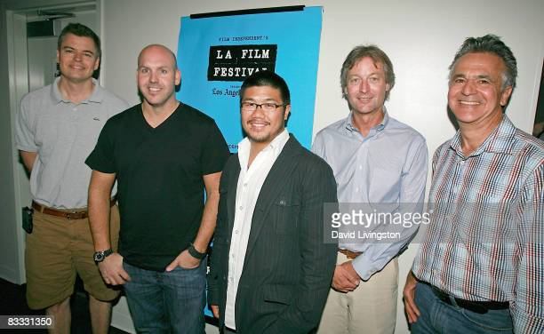 Roadside Attractions' Eric d'Arbeloff Ray Strache of Fox Searchlight Kevin Lau of Stand Releasing Landmark Theatres' Ted Mundorff and Pandemic...