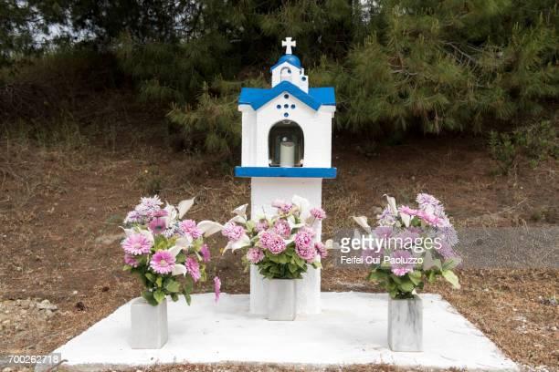 Roadside memorial at Pallini, East Attica, Attica region, Southern Greece